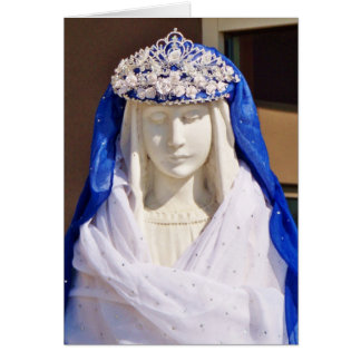 Mother's Day Card with Crowned Virgin Mary Statue