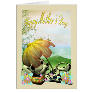 Mother's Day Card, with little dog