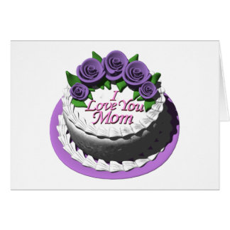Mother's Day Card with Matching Postage Stamp