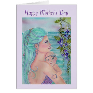 Mother's day card with mermaid and baby By Renee