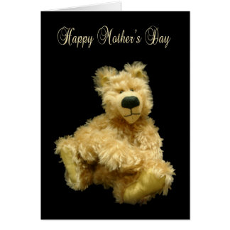 Mother's Day Card With Mohair Teddy Bear