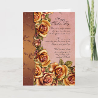 Mother's Day Card With Roses And Loving Words