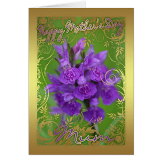 Mother's Day Card With Snapdragon - Floral Mother'