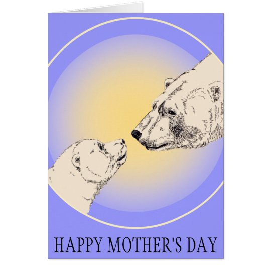 Mother's Day Cards Polar Bear Greeting Card
