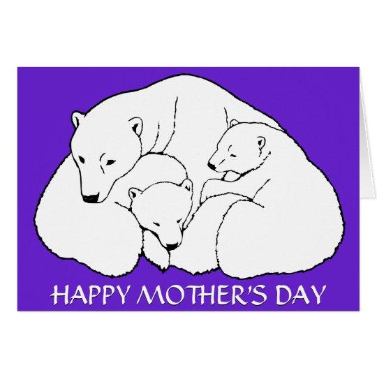 Mother's Day Cards Polar Bear Greeting Card