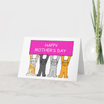 Mother's Day Cartoon Cats. Card