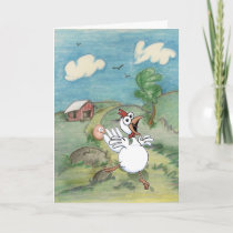 Mother's Day Cartoon Chicken and Egg. Card
