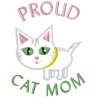 Mother's Day Cat Embroidered