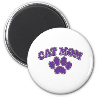 Mother's Day Cat Mom 2 Inch Round Magnet