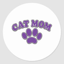 Mother's Day Cat Mom Classic Round Sticker