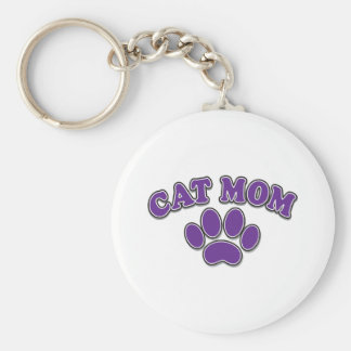 Mother's Day Cat Mom Keychain