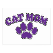 Mother's Day Cat Mom Postcard