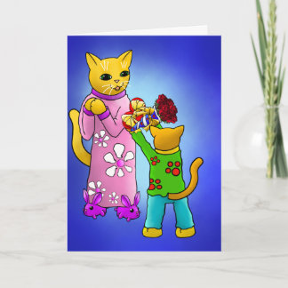 Mother's Day Cats Card