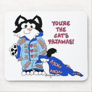 Mother's Day Cat's Pajamas Fun Kitty MOUSEpad