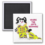 Mother's Day Cat's Pajamas Square Magnet Cat Fun