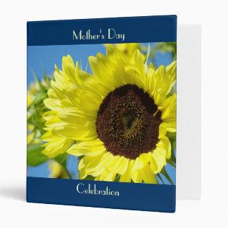 Mother's Day Celebration binder album Sunflowers