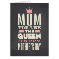 Mother's Day Chalkboard Style Text Design Card