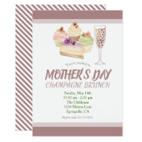 Mother's Day Champagne Brunch Party Card