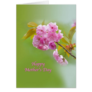 Mother's Day, Cherry Blossoms, Religious Card