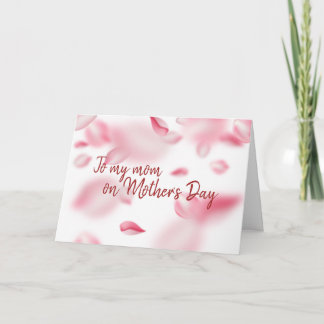 Mother's Day Cherry Blossoms Watercolor Card