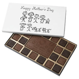 Mother's Day Chocolates/Stick Figure Family Assorted Chocolates