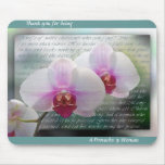 Mother's Day Christian Orchids Mouse Pad