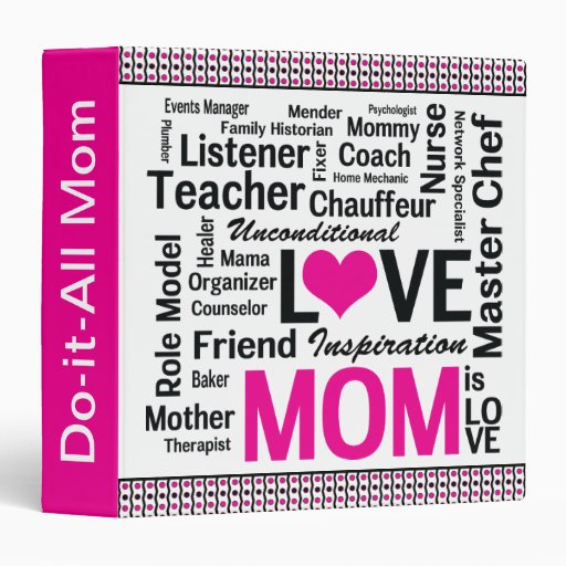 Mother S Day Cookbook Cover : Mother s day cookbook for do it all moms quot binder zazzle
