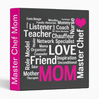Mother's Day Cookbook for Master Chef Mom 3 Ring Binder