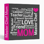 Mother's Day Cookbook for Master Chef Mom Vinyl Binders