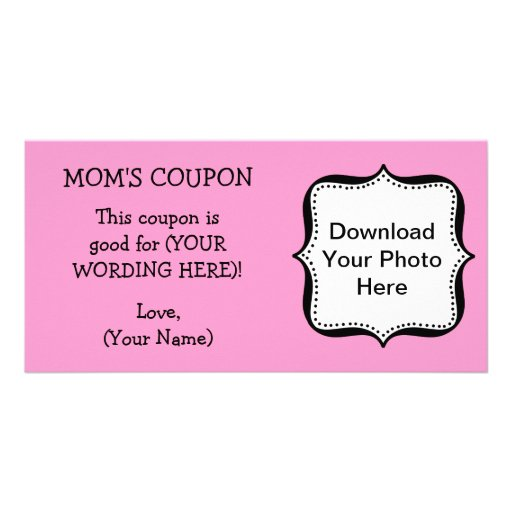 Mother's day coupon card template