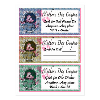 Mother's Day Coupons Postcard