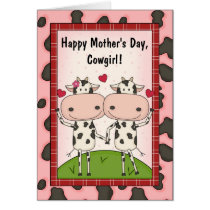 Mother's Day - Cows for Her Card