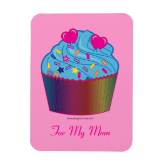 Mother's Day Cupcake with Hearts Magnet