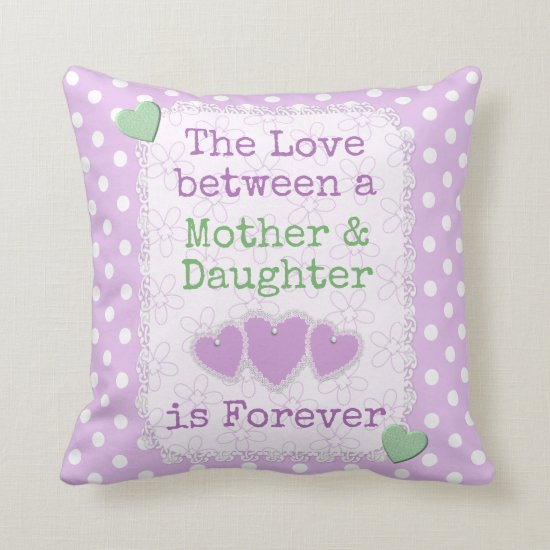 Mother's Day cushion lilac polka dots