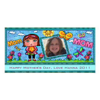 Mother's Day Custom  Text  Photo Card