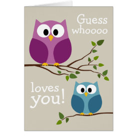 Mothers Day - Cute Owls Card at Zazzle