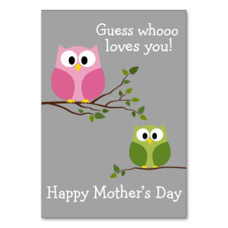 Mothers Day - Cute Owls - Whooo loves you Card
