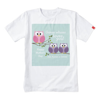 Mothers Day - Cute Owls Zazzle HEART T-Shirt
