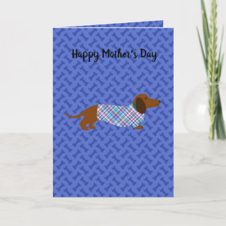 Mother's Day Dachshund Card