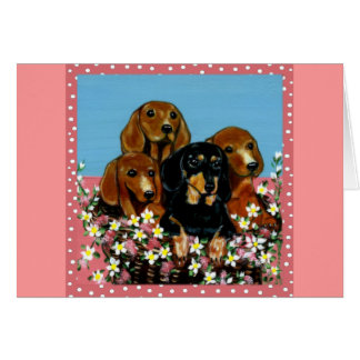 Mother's Day Dachshunds Card