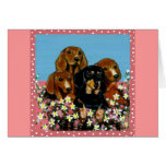 Mother's Day Dachshunds Greeting Card