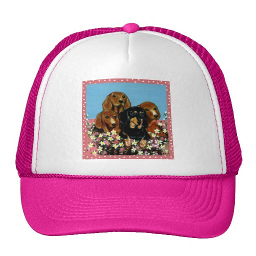 Mother's Day Dachshunds Trucker Hat