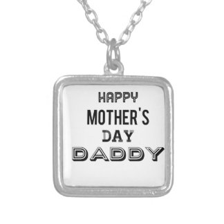 mothers day daddy reg silver plated necklace