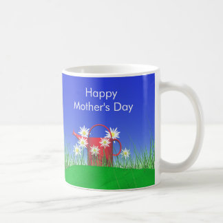 Mothers Day Daisies and Watering Can Coffee Mug