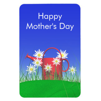 Mothers Day Daisies and Watering Can Magnet