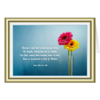 Mother's Day - Daisies in a Vase - Poetry Card