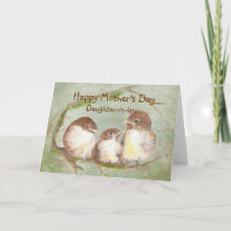 Mother's Day Daughter-in-law  Sparrow Bird Family Card