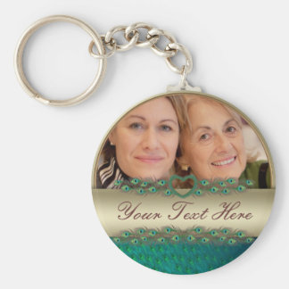 Mother's day decorated photo frame & text keychain
