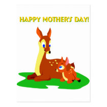 Mothers Day Deer Postcard