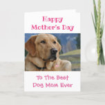 Mother's Day Dog Mom World's Best Ever Pet Photo Holiday Card